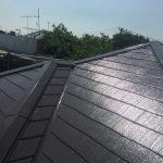 中野区にて外壁塗装 ~屋根の上塗り~