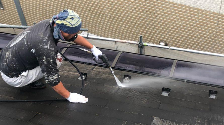 朝霞市にて外壁塗装 ~高圧洗浄~