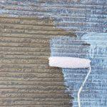 見沼区にて外壁塗装 ~天井の中塗り・上塗り、外壁の下塗り~
