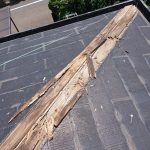 調布市にて屋根の棟板金工事
