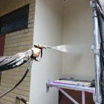 金沢区にて外壁塗装 ~着工・足場組立・高圧洗浄~