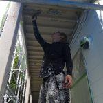 川崎市麻生区にて外壁塗装 ~外壁・鉄骨の塗装~