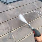 調布市にて屋根塗装工事 ~高圧洗浄~